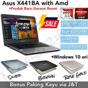Harga laptop asus x441ba amd a4 9125 ram 4gb 1tb vga radeon r3 promo   HARGALOKA.COM