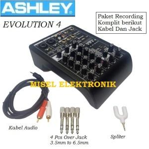 Harga ashley evolution 4 mixer audio 4 channel paket komplit buat | HARGALOKA.COM