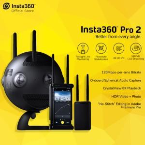 Harga insta360 pro ii spherical vr 360 8k camera with farsight | HARGALOKA.COM