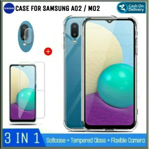 Harga soft case samsung galaxy a02 bonus tempered glass free | HARGALOKA.COM