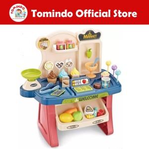 Harga tomindo mainan anak home market playset mainan kasir kasiran es | HARGALOKA.COM