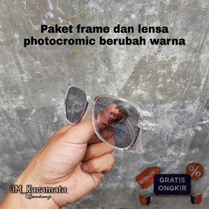 Harga kacamata safety lensa photocromic lensa normal minus | HARGALOKA.COM