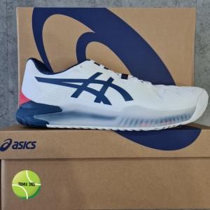 Harga sepatu tenis asics gel resolution 8 white mako blue   43 | HARGALOKA.COM