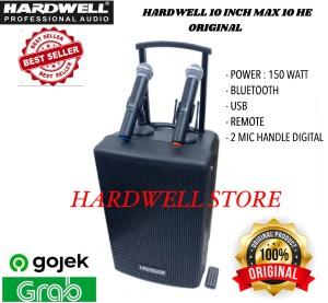 Harga speaker portable meeting 10 inch hardwell max 10 he max 10he   HARGALOKA.COM