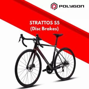 Harga roadbike terbaru sepeda balap polygon strattos s5 disc size s | HARGALOKA.COM