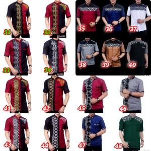 Harga baju koko kombinasi batik murah kemeja pria lengan pendek murah   | HARGALOKA.COM