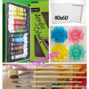 Harga kanvas lukis canvas 40x60   paket akrilik | HARGALOKA.COM