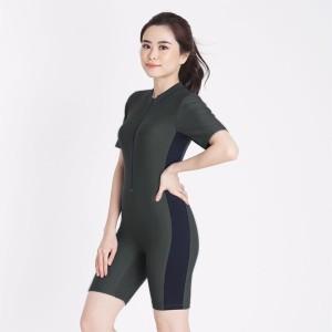Harga anavah baju renang wanita model diving pendek v02   abu abu | HARGALOKA.COM