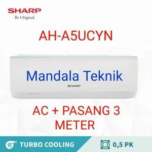 Harga ac sharp 1 2 pk ah a 5ucyn low watt 1 2pk 0 5 pk 0 5pk 0 5 pk 0   HARGALOKA.COM