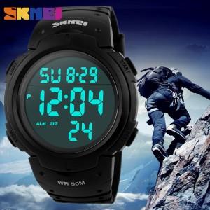 Harga jam tangan digital pria original anti air bergaransi skmei 1068   HARGALOKA.COM