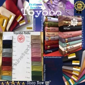 Harga kain katun toyobo fodu premium bahan kain katun jepang katun | HARGALOKA.COM