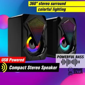 Harga speaker usb spiker kecil pc laptop komputer speker rgb led full | HARGALOKA.COM
