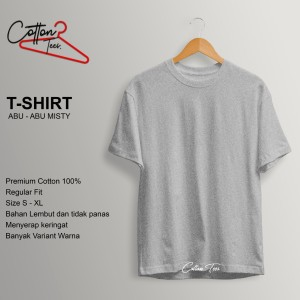Harga kaos polos kaos pria baju pria atasan pria kaos premium cotton abu abu   | HARGALOKA.COM