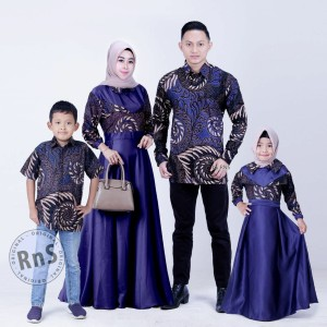 Harga baju batik couple keluarga anak cewek cowok   biru ank cwok | HARGALOKA.COM
