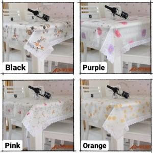Info Taplak Meja Makan Anti Air Plastik Set Tamu Motif Pink Katalog.or.id