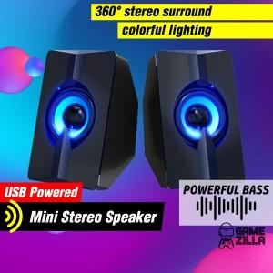 Harga speaker usb mini spiker pc laptop komputer speker kecil rgb gaming | HARGALOKA.COM