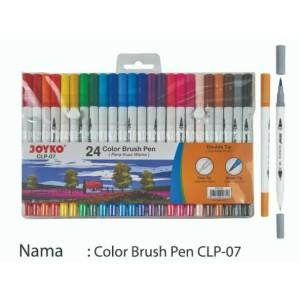 Info Brush Pen Joyko 12 Warna Clp 06 Dua Mata Pena Katalog.or.id