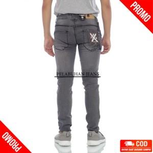 Harga celana jeans slim fit denim new abu abu 784 victory   abu abu | HARGALOKA.COM