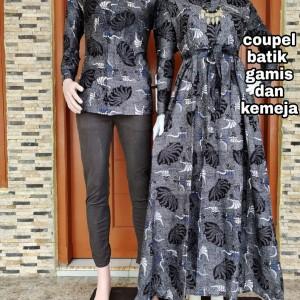 Harga sarimbit gamis batik couple keluarga   foto 1 kemeja saja | HARGALOKA.COM