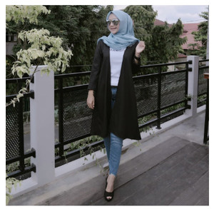 Harga cardigan wanita lengan panjang model longgar motif bordir renda     HARGALOKA.COM