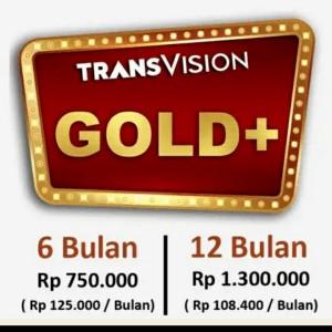 Harga promo tv parabola transvision   paket gold   12 | HARGALOKA.COM