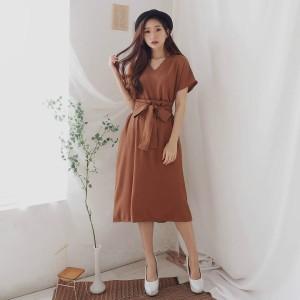 Harga raya dress cantik bahan crepe baju pesta kekinian nyaman ootd fashion   | HARGALOKA.COM