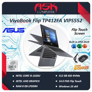 Harga asus vivobook flip tp412fa vips55t touch i5 10210u 8gb 512ssd w10 | HARGALOKA.COM