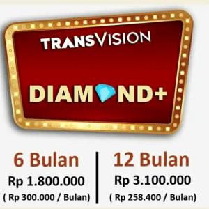 Harga tv parabola transvision   paket diamond plus   6 | HARGALOKA.COM