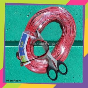 Harga kabel tweeter kabel speaker 2x12 tembaga murni harga 1m red   | HARGALOKA.COM