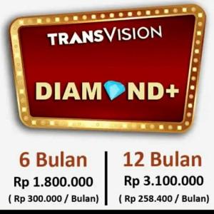 Harga promo tv parabola transvision   paket diamond plus   12 | HARGALOKA.COM