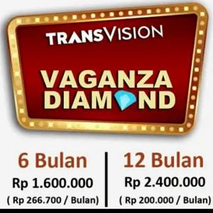 Harga promo tv parabola transvision   paket diamond vaganza   12 | HARGALOKA.COM