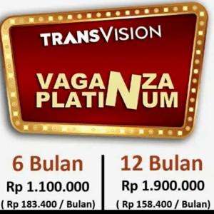 Harga promo tv parabola transvision   paket platinum vaganza   12 | HARGALOKA.COM