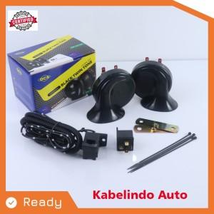 Harga klakson dcs black twin tone untuk mobil amp motor kabel | HARGALOKA.COM