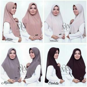 Harga jilbab instan basic bahan jarsey hq premium model   HARGALOKA.COM