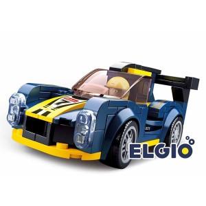 Harga elgio brick sluban mobil balap biru kuning f1 racing car club   HARGALOKA.COM