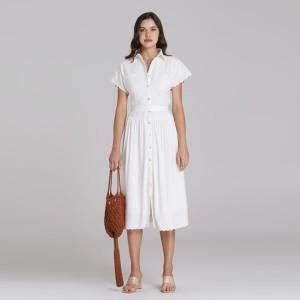 Harga wearstatuquo versailles embroidery shirt dress   white   putih | HARGALOKA.COM