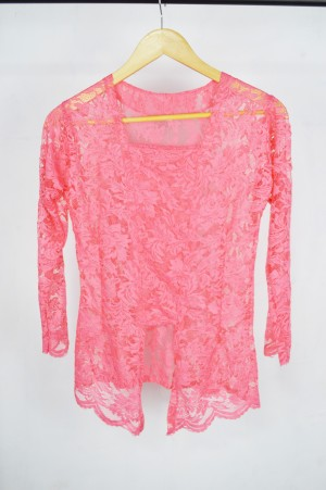 Harga kebaya kutu baru atasan baju brukat wanita bali modern murah grosir   merah jambu | HARGALOKA.COM