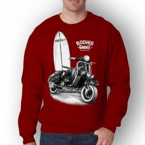Harga baju pria bodhis lengan panjang t shirt distro sweatshirt pria terbaru   marun | HARGALOKA.COM
