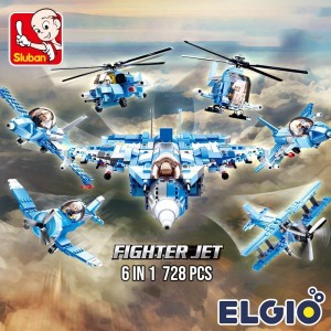 Harga elgio brick sluban pesawat jet tempur 6in1 fighter jet 728 pcs | HARGALOKA.COM