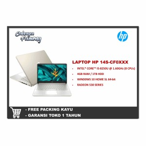 Harga hp laptop 14s cf0xxx intel core i5 8250u 4 gb 1 tb radeon 530 | HARGALOKA.COM