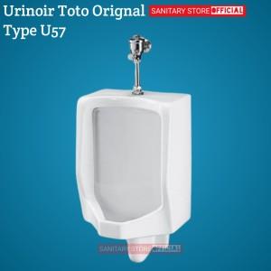 Harga urinoir toto u57 original complete set push vale urinal | HARGALOKA.COM