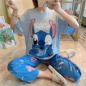 Harga baju tidur wanita piyama import stelan cp kaos big size cp bl   HARGALOKA.COM