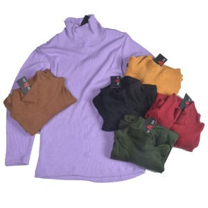 Harga kaos turtle neck turtleneck leher tinggi rib 2x2 lengan panjang wanita   | HARGALOKA.COM