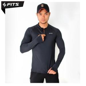 Harga sfidn fits threadcool survival pullover jaket olahraga lari gym   hitam | HARGALOKA.COM