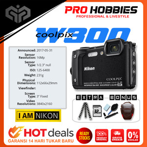 Harga nikon coolpix w300 digital camera wifi video 4k underwater kamera vlog   unit | HARGALOKA.COM