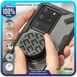 Harga ringke popsocket griptok stand pegangan hp handphone   k letter d | HARGALOKA.COM