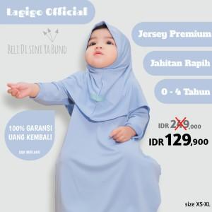 Harga baju muslim gamis bayi 6 12 bulan anak perempuan 1 2 3 4 tahun pastel   blue xl 4 tahun | HARGALOKA.COM