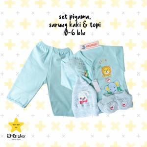 Harga set piyama topi sarung tangan anak bayi unisex   | HARGALOKA.COM