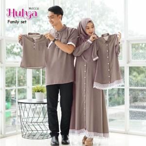 Harga couple baju muslim hulya family   merah maroon ayah ibu dan anak   abu | HARGALOKA.COM