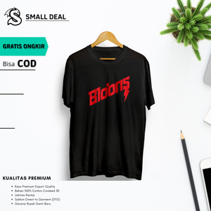 Harga baju t shirt kaos polos distro cowok cewek motif bloods bloons   hitam | HARGALOKA.COM